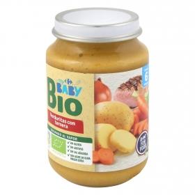 Tarrito de verduritas con ternera desde 6 meses ecológico Carrefour Baby Bio 200 g