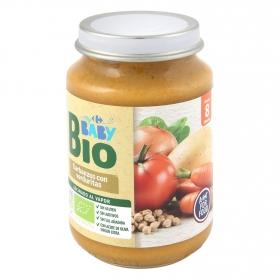Tarrito de garbanzos con verduritas desde 8 meses ecológico Carrefour Baby Bio 200 g