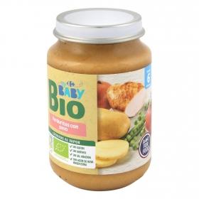 Tarrito de verduritas con pavo desde 6 meses ecológico Carrefour Baby Bio 200 g
