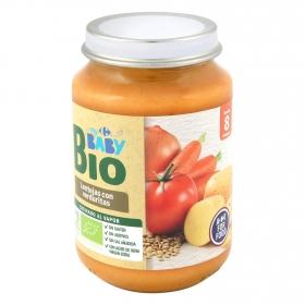Tarrito de lentejas con verduritas desde 8 meses ecológico Carrefour Baby Bio 200 g