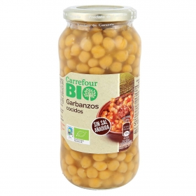 Garbazo cocido ecológico Carrefour Bio 400 g.