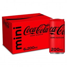 Refresco de cola Coca Cola zero pack de 6 latas de 20 cl.