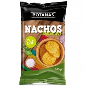 Nachos redondo sal Botanas 200 g.