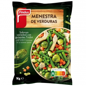 Menestra de verduras Findus 1 kg.