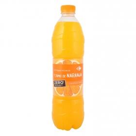 Agua mineral Carrefour con zumo de naranja zero azúcares añadidos 1,5 l.