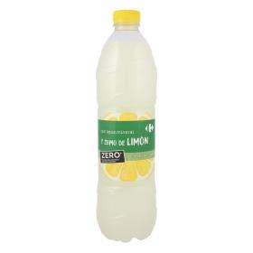 Agua mineral Carrefour con zumo de limón zero sin azúcares añadidos 1,5 l.