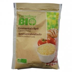 Queso rallado emmental ecológico Carrefour Bio 200g.