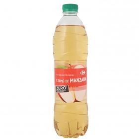 Agua mineral y zumo de manzana zero carrefour 1,5 l.