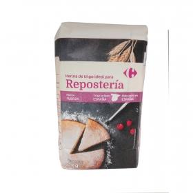 Harina de trigo para repostería Carrefour 1 kg.
