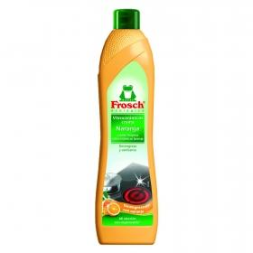 Limpiador de vitrocerámica en crema naranja ecológico Frosch 500 ml.