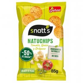 Natuchips tomate, queso y orégano Grefusa Snatt's 85 g.