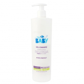 Gel - Champú para bebé atopic protect aceite de aguacate Carrefour My Baby 500 ml.