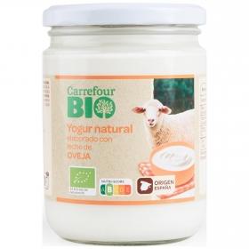 Yogur natural de leche de oveja pasteurizada ecológica Carrefour Bio 420 g.