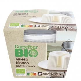 Queso blanco pasteurizado ecológico Carrefour Bio 230 g.