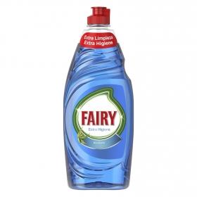 Lavavajillas a mano extra higiene aroma eucalipto Fairy 650 ml.