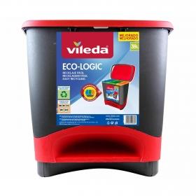 Cubo  de basura de Plástico Vileda Ecologic 50 Litros - Negro