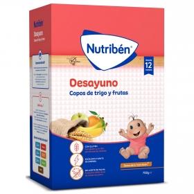 Papilla infantil con copos de trigo y frutas desde 12 meses Nutribén 750 g.