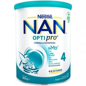 Leche infantil de crecimiento en polvo Nan optipro 4 lata 800 gr