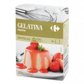 Preparado para gelatina neutra Carrefour 20 g.