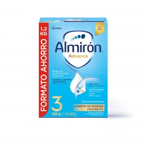 Leche infantil de crecimiento desde 12 meses en polvo con Pronutra+ Almirón Advance 3 caja 1200 g.