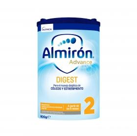 Leche infantil de continuación desde 6 meses en polvo con Pronutra+ Almirón Advance Digest AE/AC 2 lata  800 g.