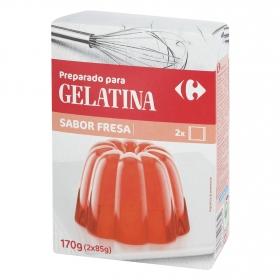 Preparado para gelatina sabor fresa Carrefour 170 g.