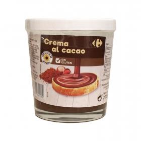 Crema de cacao con avellanas carrefour sin gluten 200 g.