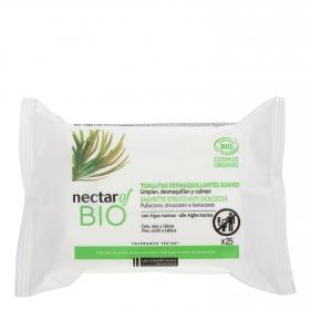 Toallitas desmaquillantes suaves Nectar of Bio 25 ud.