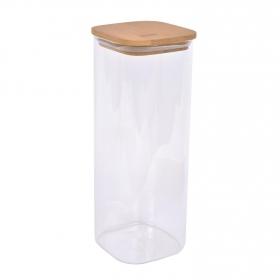 Tarro Borosilicato con Tapa Bambú TABERSEO 2,50 l - Transparente
