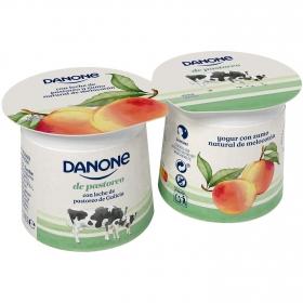 Yogur con zumo natural de melocotón Danone de Pastoreo pack 2 unidades de 120 g.