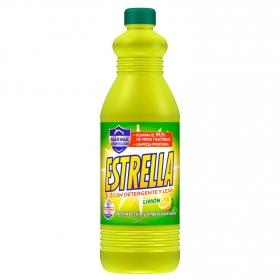 Fregasuelos con lejia y detergente limón Estrella 1,35 l.