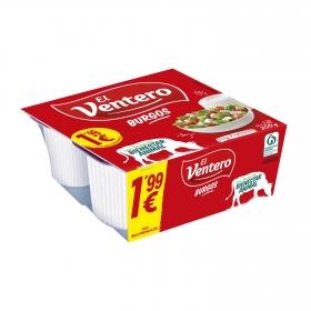 Queso fresco de Burgos Natural El Ventero 250 gr