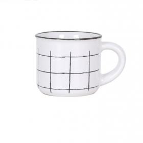 Set de 4 Tazas Café SANTA CLARA Cloth - Blanco