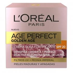 Crema facial rosa fortificante SPF20 L´oreal Age Perfect 50 ml.