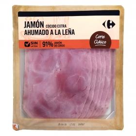 Jamón cocido y ahumado a la leña extra en lonchas Placeres Tradicionales sin lactosa 180 g