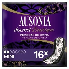 Compresas para incontinencia de orina mini discreet boutique Ausonia 16 ud.