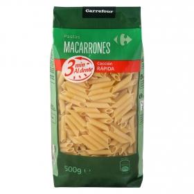 Macarrones cocción rápida Carrefour 500 g.