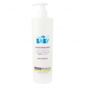 Leche emoliente hidratante para piel sensible y seca My Carrefour Baby 500 ml.