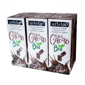 Batido de cacao ecologico Artelac pack de 6 briks de 200 ml.