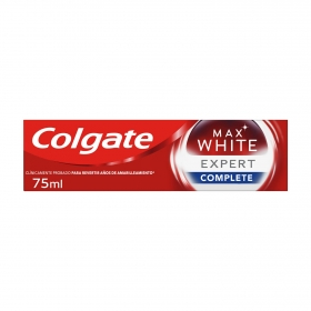 Dentífrico Max White Expert Complete menta suave Colgate 75 ml.