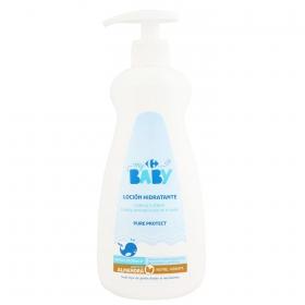 Crema corporal aceite de almendra Carrefour Baby 500 ml.