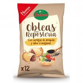 Obleas para reposteria con semillas de amapola y sabor avellana Buitoni 120 g.
