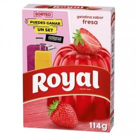 Gelatina sabor fresa Royal 114 g.