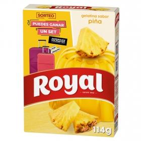 Gelatina sabor piña Royal 114 g.