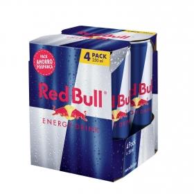 Bebida energética Red Bull pack de 4 latas de 25 cl.