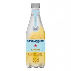 Agua mineral San Pellegrino con gas sabor limón 50 cl.