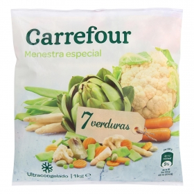 Menestra especial de verduras Carrefour 1 kg.