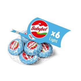 Queso mini light Babybel pack de 6 unidades de 20 g.