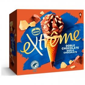Cono con tres chocolates Extreme Nestlé 6 ud.