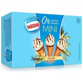 Mini conos con helado de vainilla sin azúcar añadido Nestlé 8 ud.